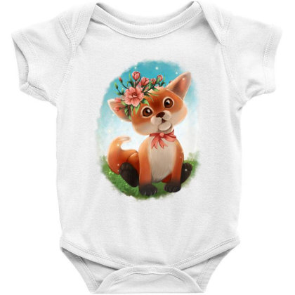 Baby Floral Fox Baby Bodysuit