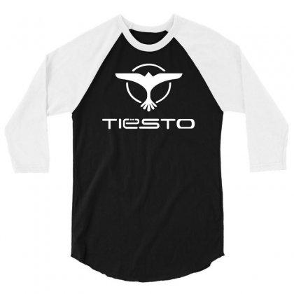Tiesto Bird Logo 3/4 Sleeve Shirt Designed By Mdk Art