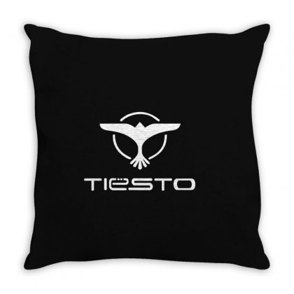 Tiesto Bird Logo Throw Pillow Designed By Mdk Art