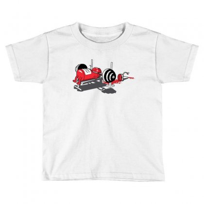 Bench Pressed Toddler T-shirt Designed By Iamar25