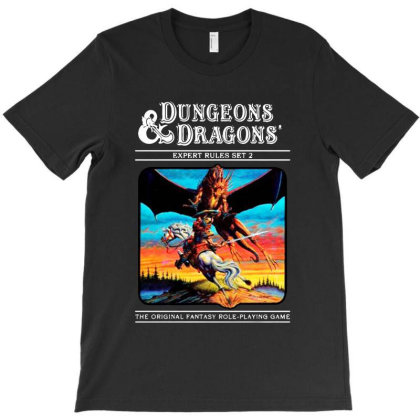 Dungeons And Dragons Expert Rules T-shirt Designed By Woko Art