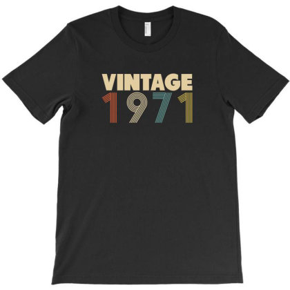 Vintage 1971   50th Birthday T-shirt Designed By Parody Quote Design