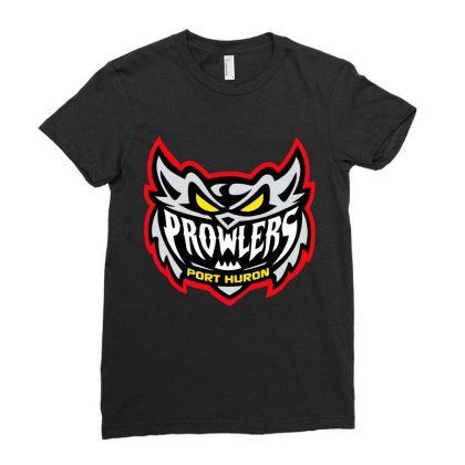 Port Huron Prowlers Ladies Fitted T-shirt Designed By Vanessa Tees