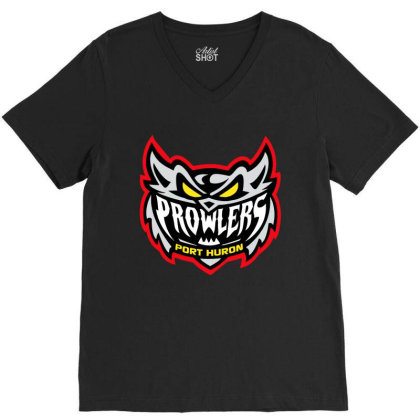 Port Huron Prowlers V-neck Tee Designed By Vanessa Tees