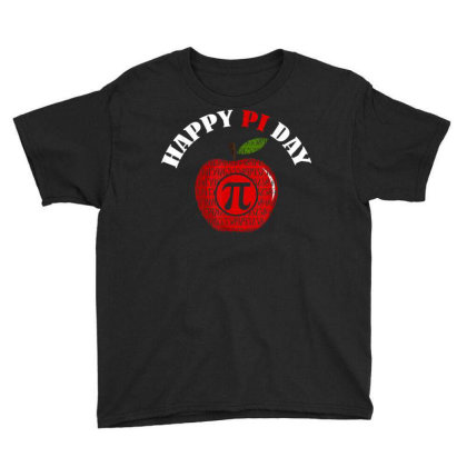 Apple Pi Day Youth Tee Designed By Koopshawneen