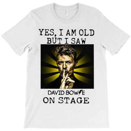 I Saw Bowie On Stage T-shirt Designed By Aleyza Bnp