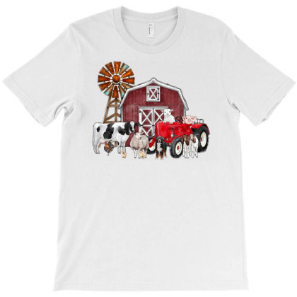 Farm Animals T-shirt Designed By Badaudesign