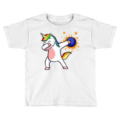 Bowling Unicorn For Bowling Player Toddler T-shirt Designed By Ngiart