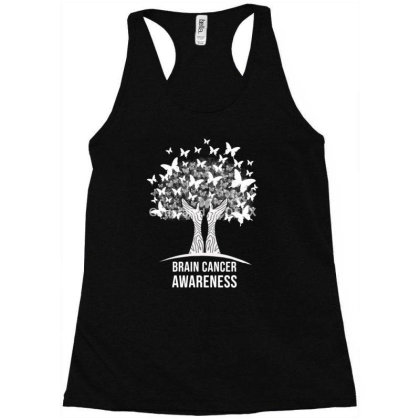 Brain Cancer Awareness In Brain Cancer Awareness Racerback Tank Designed By Ngiart