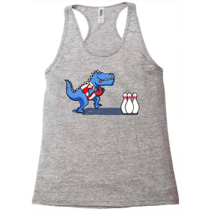 Bowling Dinosaur For Bowling Player Racerback Tank Designed By Ngiart
