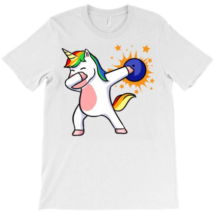Bowling Unicorn For Bowling Player T-shirt Designed By Ngiart