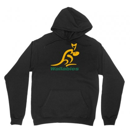 Wallabies Gold Logo Unisex Hoodie Designed By Mdk Art