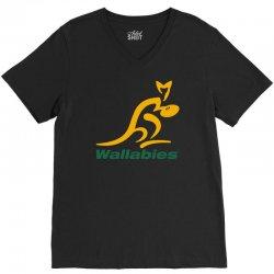 wallabies gold logo V-Neck Tee   Artistshot