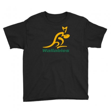 Wallabies Gold Logo Youth Tee Designed By Mdk Art