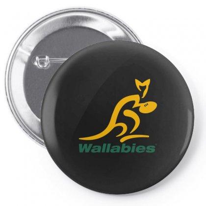 Wallabies Gold Logo Pin-back Button Designed By Mdk Art