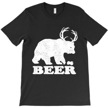 Funny Beer Bear T-shirt Designed By Jovanka Tees