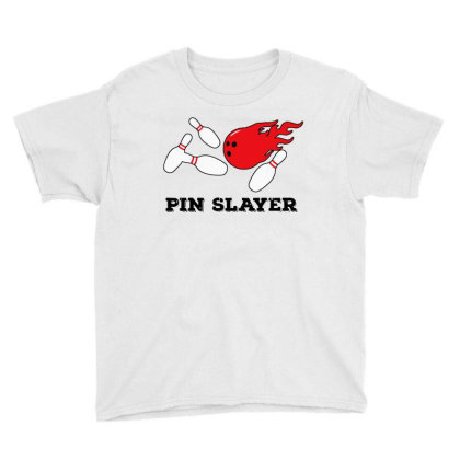 Pin Slayer Bowling Youth Tee Designed By Golden Store
