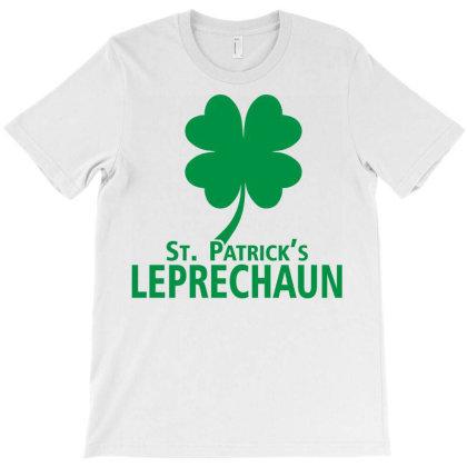 St Patrick Leprechaun Clover Leaf T-shirt Designed By Black Coffee