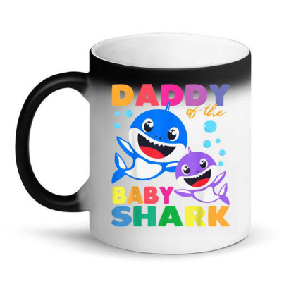 Daddy Of The Baby Shark Birthday Boy, Girl, Kids Daddy Shark Magic Mug Designed By Jonathon
