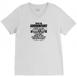 Being An Accountant... V-Neck Tee | Artistshot