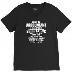 Being An Accountant.... V-Neck Tee | Artistshot