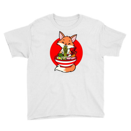 Fox Eating Ramen For Ramen Lover Youth Tee Designed By Ngiart