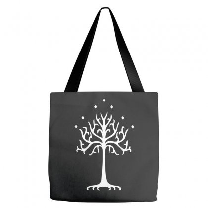 White Tree Of Gondor Tote Bags Designed By Mdk Art