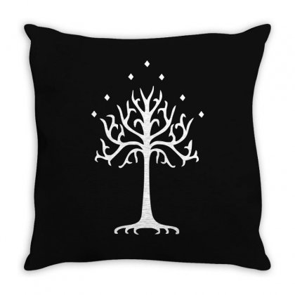 White Tree Of Gondor Throw Pillow Designed By Mdk Art