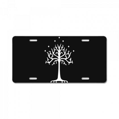 White Tree Of Gondor License Plate Designed By Mdk Art