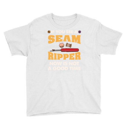 If You See A Seam Ripper Now Is Not A Good Time For Quilting Lover Youth Tee Designed By Ngiart