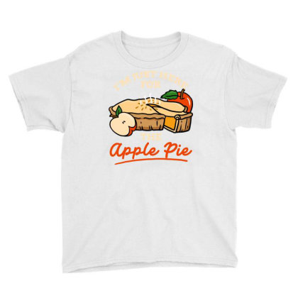 I'm Just Here For The Apple Pie For Thanksgiving Youth Tee Designed By Ngiart