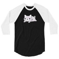 funny cat science t shirt 3/4 Sleeve Shirt   Artistshot