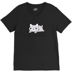 funny cat science t shirt V-Neck Tee   Artistshot