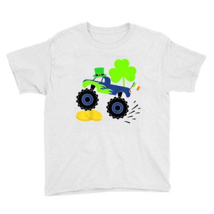 Kids Saint Patricks Day Gift For Monster Truck Lover Boy Shamrock Youth Tee Designed By Jonathon