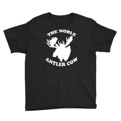 The Noble Antler Cow Youth Tee Designed By Funtee