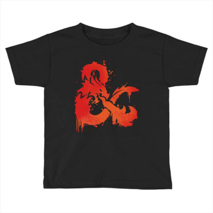 Dungeons And Dragons Flame Toddler T-shirt Designed By Black And Pink