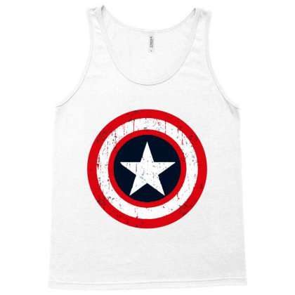 Captain  Shield Vintage Tank Top Designed By Black And Pink