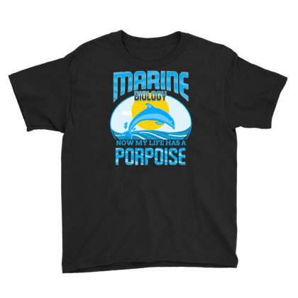Marine Biology Now My Life Has A Porpoise For Marine Biology Youth Tee Designed By Ngiart