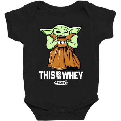 Baby Yoda This Is The Whey Baby Bodysuit