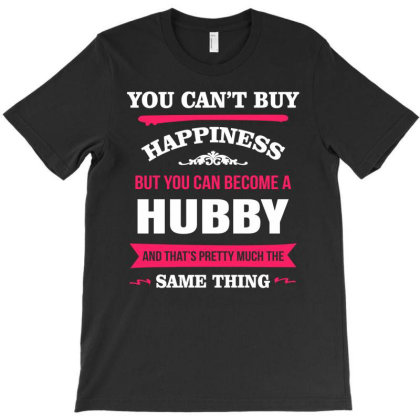 Happiness Is Being A Hubby T-shirt Designed By Edward Kudder