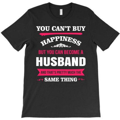 Happiness Is Being A Husband T-shirt Designed By Edward Kudder