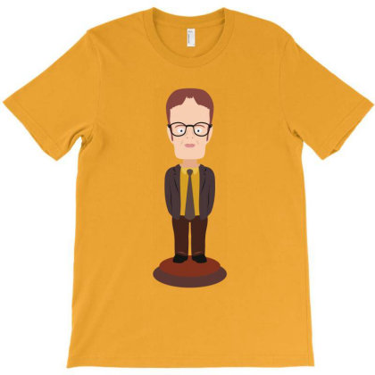Dwight Schrute Bobblehead - The Office T-shirt Designed By Vetor Total