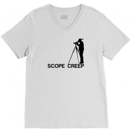 Scope Creep V-neck Tee Designed By Sabriacar