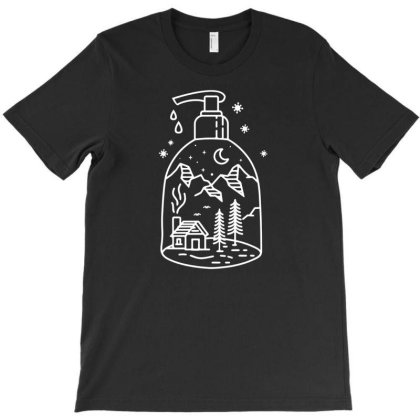 Stay Home Line Art T-shirt Designed By Enjang