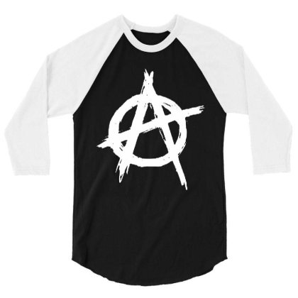 Anarchy 3/4 Sleeve Shirt Designed By Leona Art