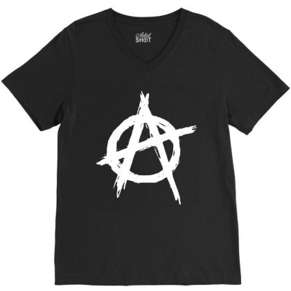 Anarchy V-neck Tee Designed By Leona Art