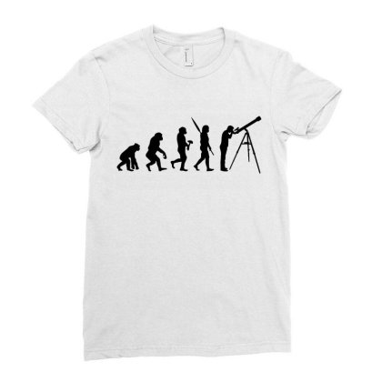 Astronomy Evolution Ladies Fitted T-shirt Designed By Leona Art