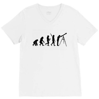Astronomy Evolution V-neck Tee Designed By Leona Art