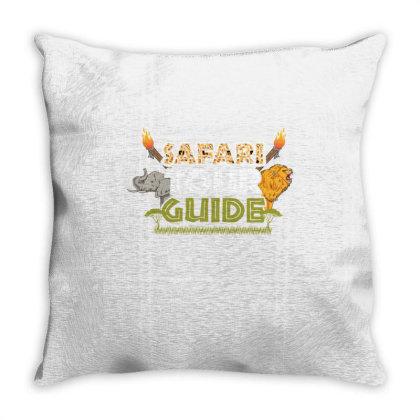 Safari Tour Guide For Halloween Throw Pillow Designed By Ngiart