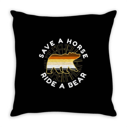 Save A Horse Ride A Bear For Bear Pride Lgbt Throw Pillow Designed By Ngiart